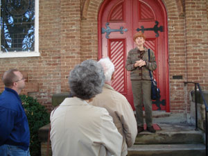 Virginia Morton leading a historic Walking Tour of Culpeper