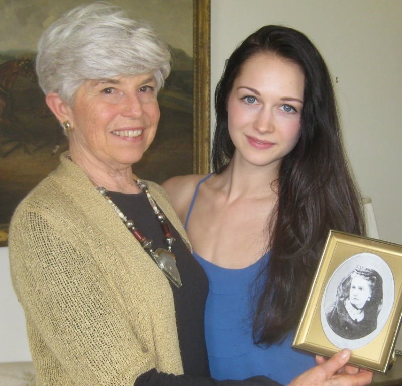 "Virginia Morton, author of ""Marching Through Culpeper,"" shares a photo of Emma Green with actress Hannah James. James will play Emma Green in the PBS Civil War dramatic series ""Mercy Street."""