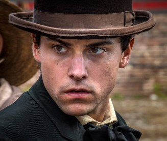 Jack Falahee in his role of Confederate scout Frank Stringfellow